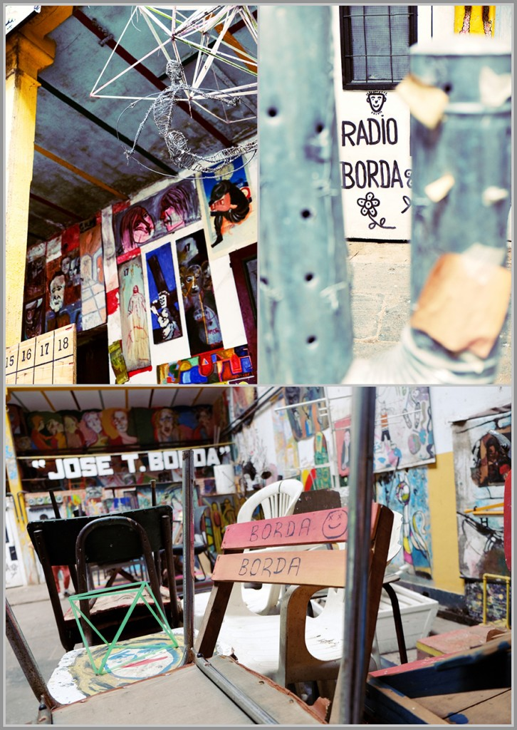 Unique art and signposts donated to La Borda, Buenos Aires