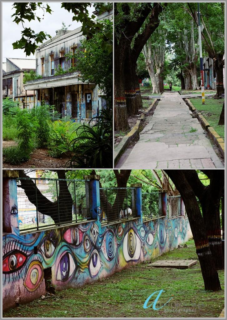 The colourful walls of La Borda mens psychiatric hospital in Buenos Aires