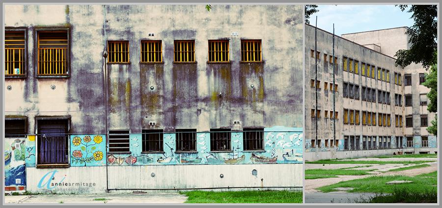 Geometric windows of La Borda, Buenos Aires