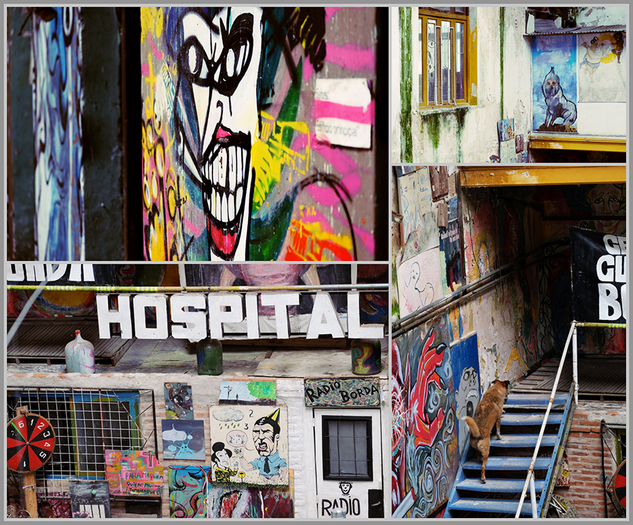 Artistic statements on the walls of La Borda, Buenos Aires