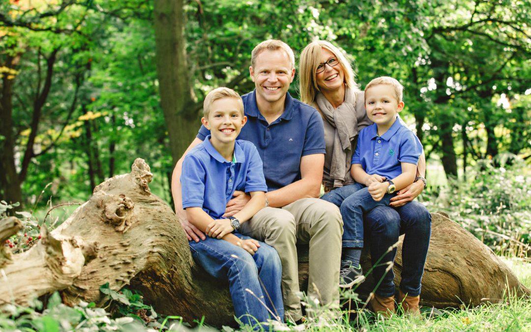 Family photo on Wimbledon Common