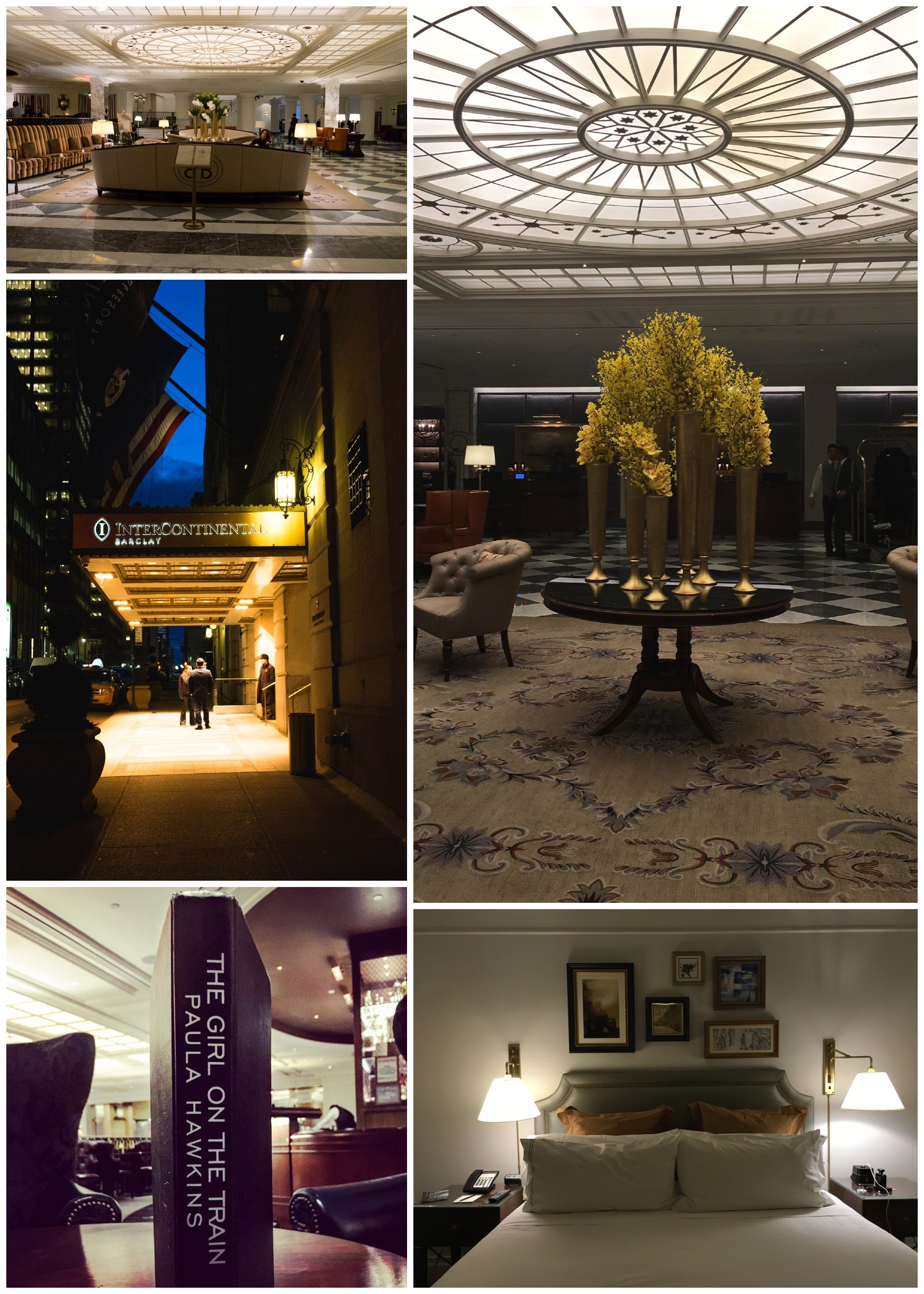 images of the foyer and bedroom of the Barclay hotel in new York