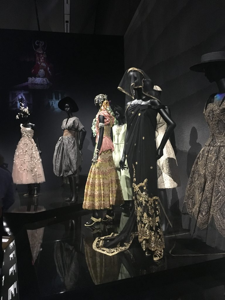 international influences tailored to the commissions of Dior dresses